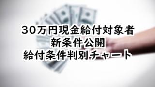 30万円現金給付2020年最新版